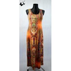 Dlouhé barevné maxi šaty s volnými zády vel 42