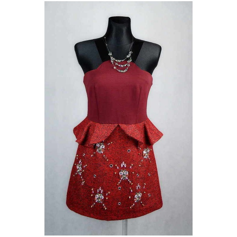 Červené šaty na ramínka vel 38