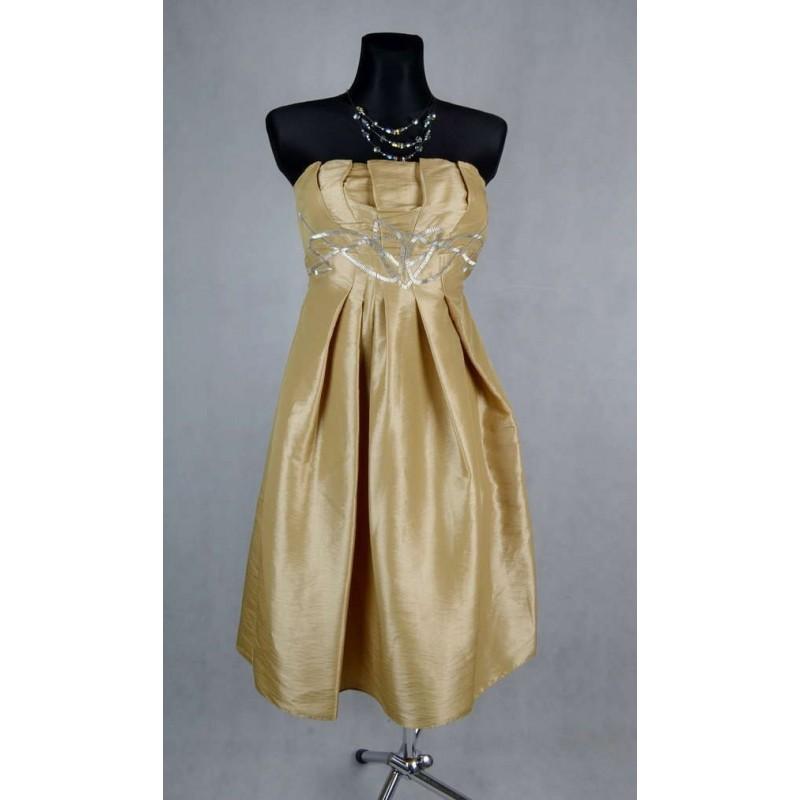 Zlaté koktejlové šaty vel 36