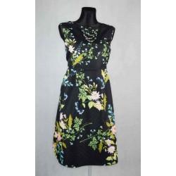 Květované tmavé šaty vel 46