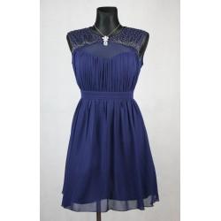 Koktejlové modré šaty vel 46