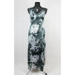 saténové dlouhé šaty vel 48