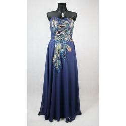 Grace Karin modré paví šaty vel 42