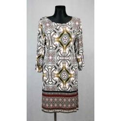 Barevné denní šaty s rukávem vel 50