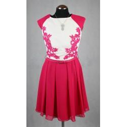 Růžové šaty vel 36