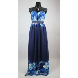 Dlouhé modré šaty little mistress vel 36