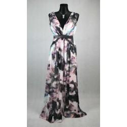 Veselé barevné dlouhé šaty vel 36