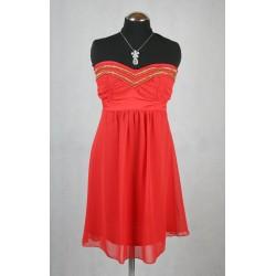 Červené krátké šaty vel 36