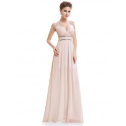 Béžové šaty řecký styl EP8697