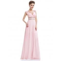 Růžové šaty řecký styl EP08697PK