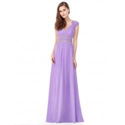 Fialové lila šaty řecký styl EP8697
