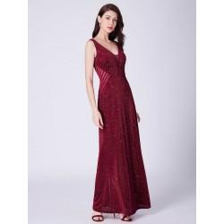 Červené šaty s flitry EP07439BD