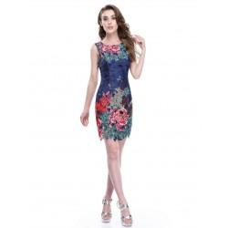 Květované krátké šaty EP5442NB
