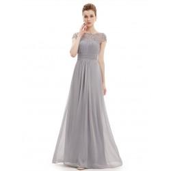 Krajkové šedé večerní šaty EP09993GY