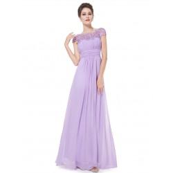 Krajkové lila večerní šaty EP09993LV