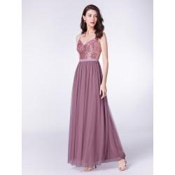 Modré šaty s flitry EP07392OD