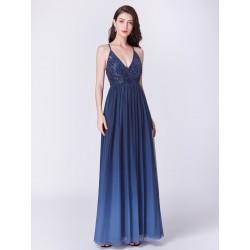modré šaty s flitry EP07468NB