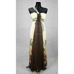 Veselé dlouhé večerní šaty vel 46