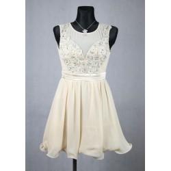 Béžové večerní šaty vel 36-38