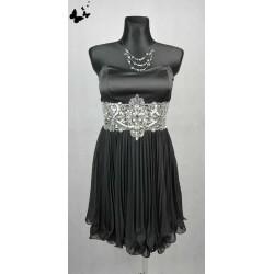 Koktejlové černé šaty vel 34-36