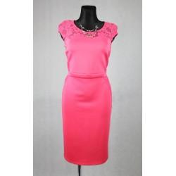 Růžové společenské šaty vel 44