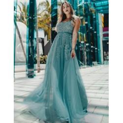 Zelené krajkové šaty EP07544