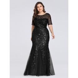 Černé šaty s krátkým...