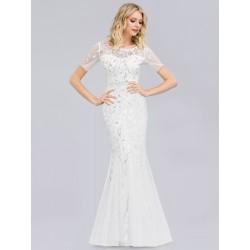 Bílé šaty s krátkým rukávem...