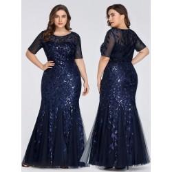Tmavě modré šaty s krátkým...