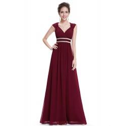 Tmavě červené šaty řecký...