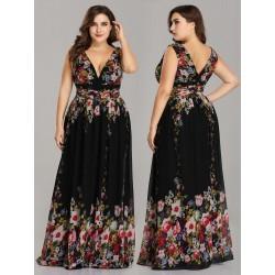 Sexy dlouhé šaty květované...